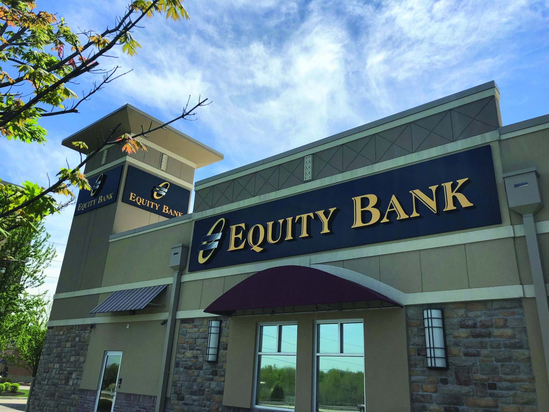 Equity Bank Blue Springs branch exterior.