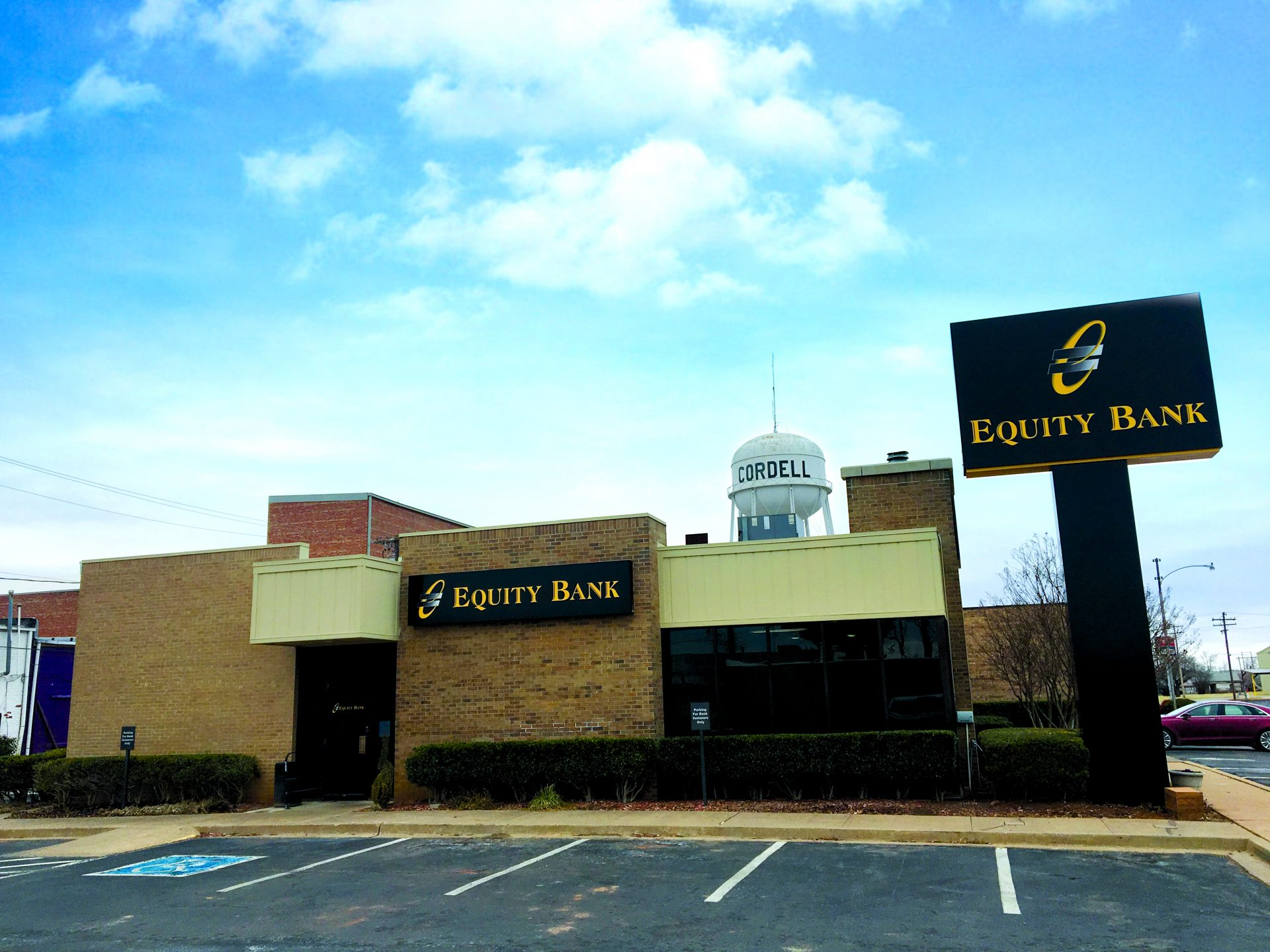 Equity Bank Cordell branch exterior.