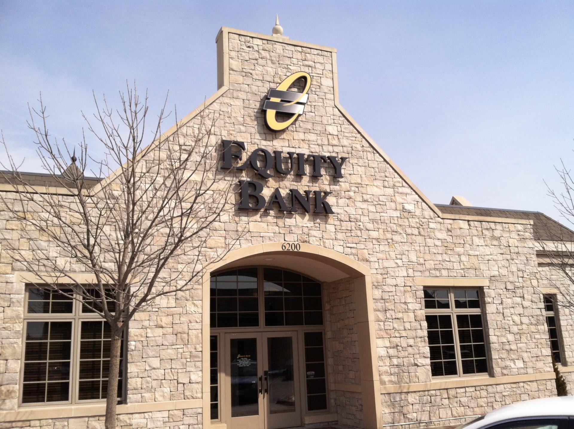 Equity Bank Kansas City Northland branch exterior.