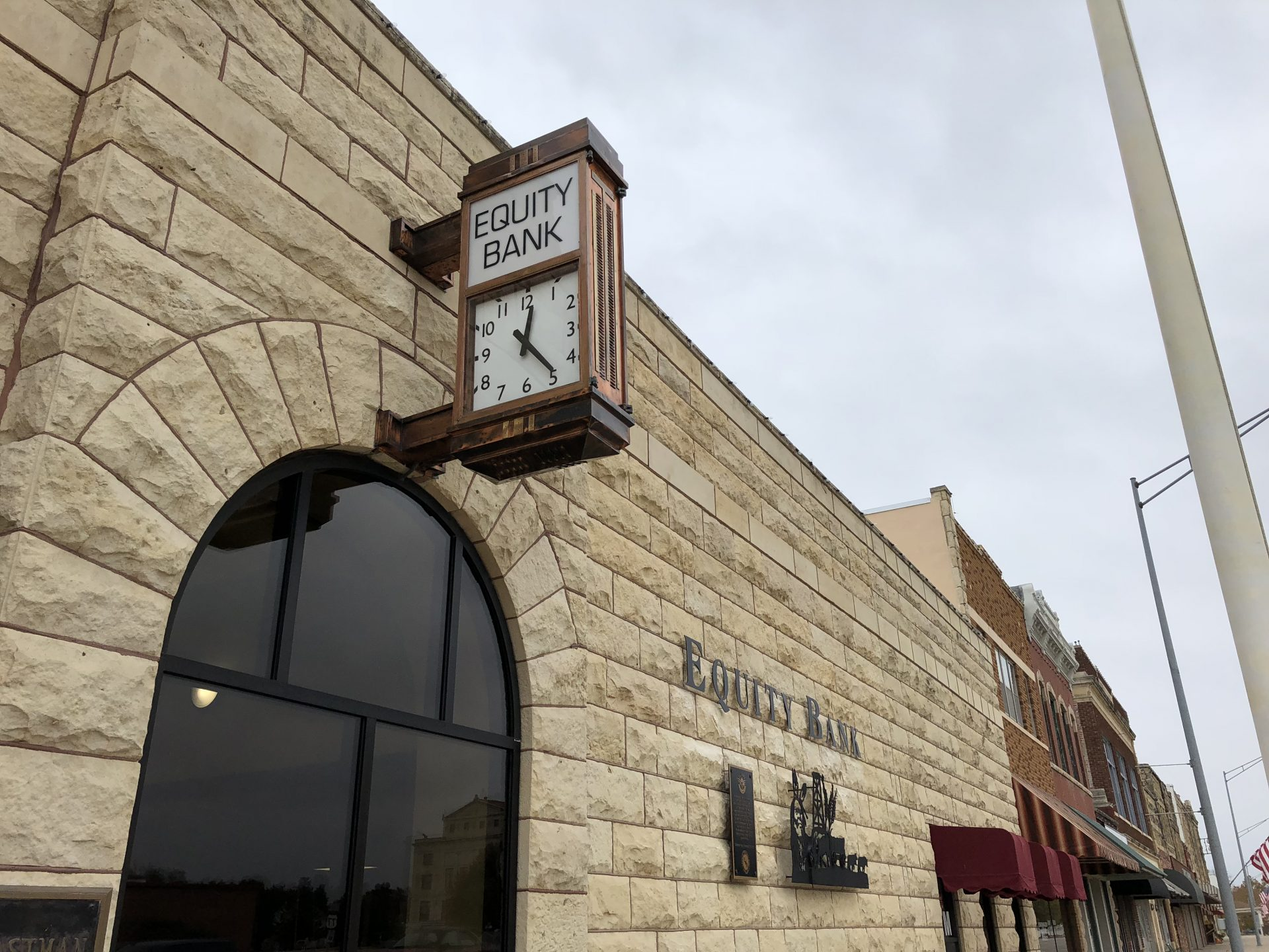 Equity Bank Newkirk branch exterior.