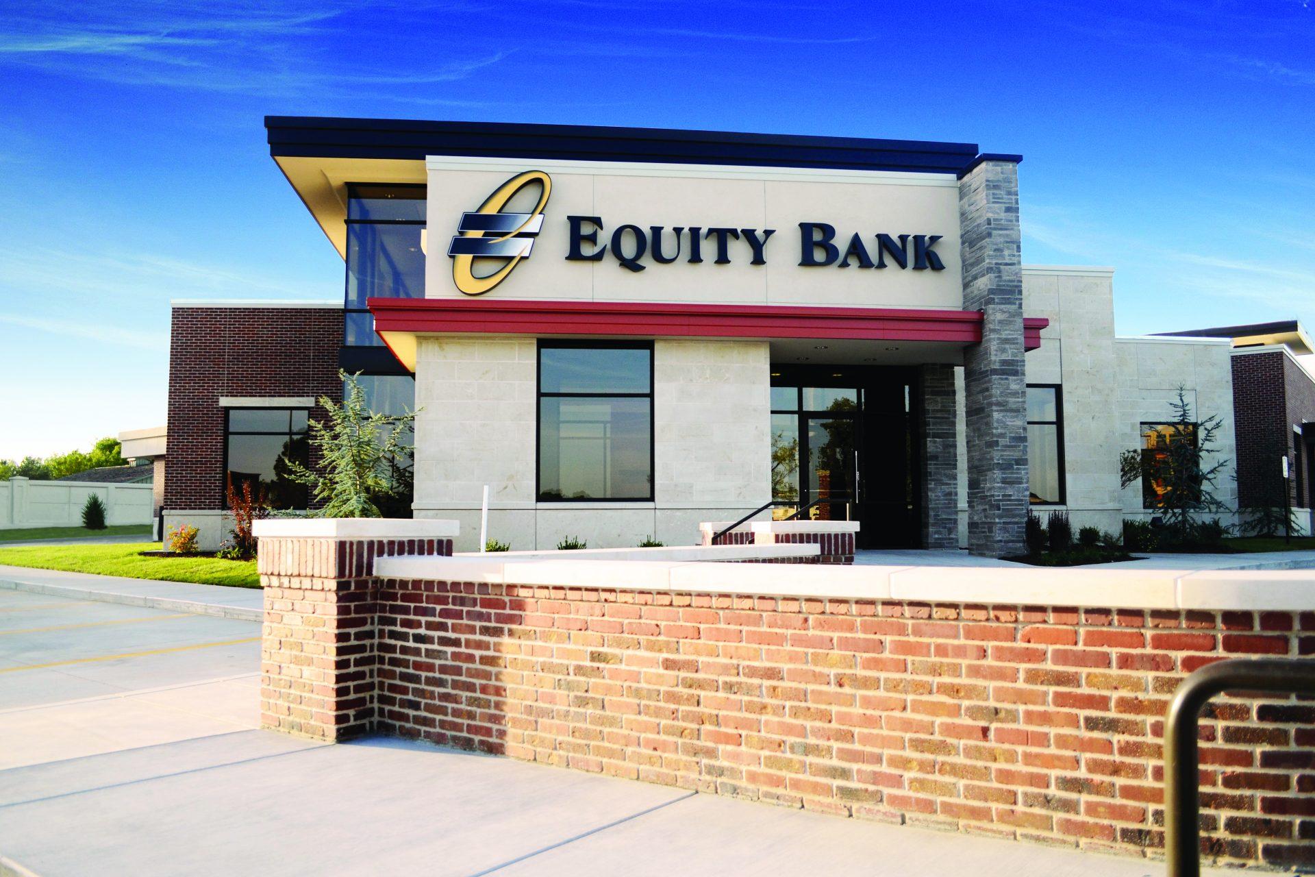 Equity Bank Wichita Webb Road branch exterior.