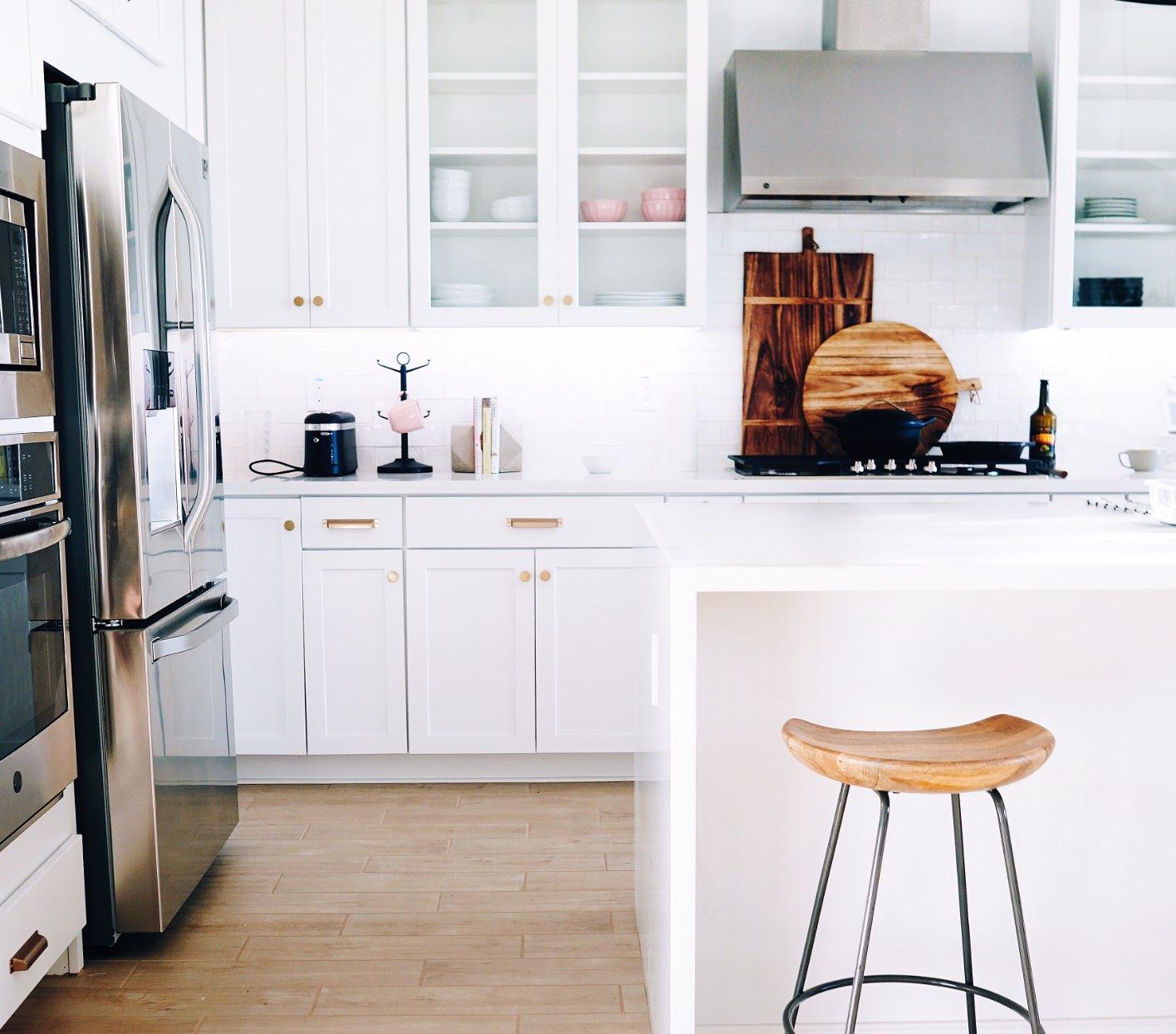 Modern Kitchen View with Center Island