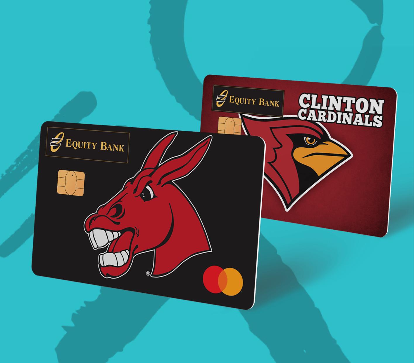 Two personalized debit card designs.